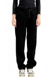 Moncler Women's Black Wool Cashmere Casual Pants