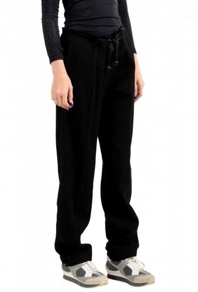 Moncler Women's Black Wool Cashmere Casual Pants: Picture 2