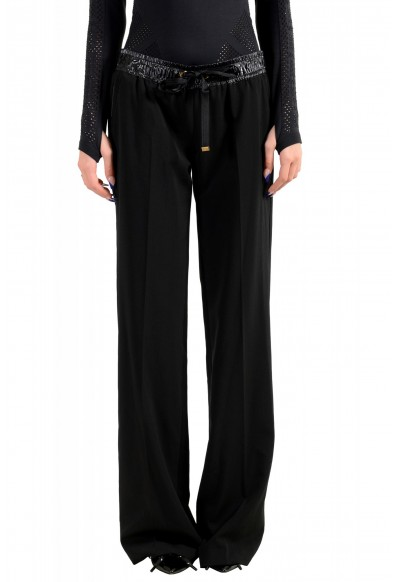 Moncler Women's Black Wool Casual Pants