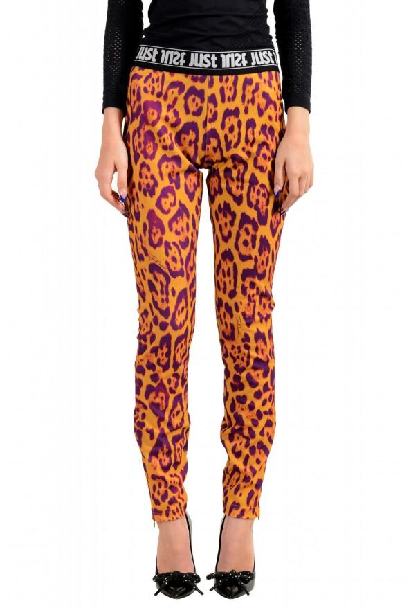 Just Cavalli Women's Multi-Color Elastic Waist Casual Pants