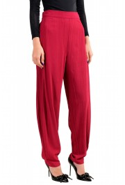 Just Cavalli Women's Bright Red Elastic Waist Casual Pants: Picture 2