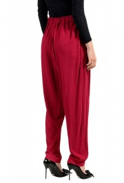 Just Cavalli Women's Bright Red Elastic Waist Casual Pants: Picture 3
