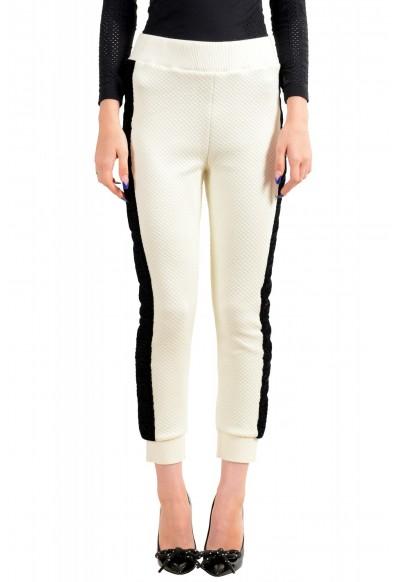 Just Cavalli Women's Logo Print Elastic Waist Casual Pants