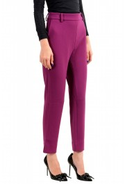 Just Cavalli Women's Purple Flat Front Casual Pants : Picture 2