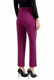 Just Cavalli Women's Purple Flat Front Casual Pants : Picture 3
