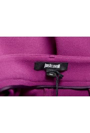 Just Cavalli Women's Purple Flat Front Casual Pants : Picture 4