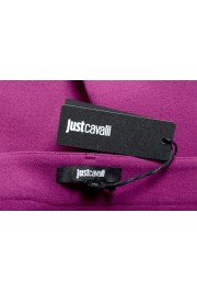 Just Cavalli Women's Purple Flat Front Casual Pants : Picture 5