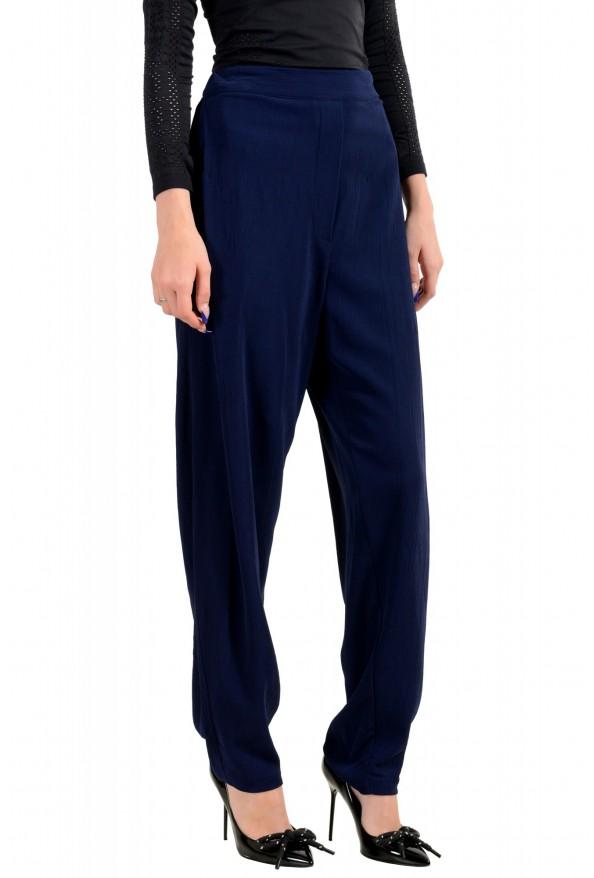 Just Cavalli Women's Dark Blue Elastic Waist Casual Pants: Picture 2