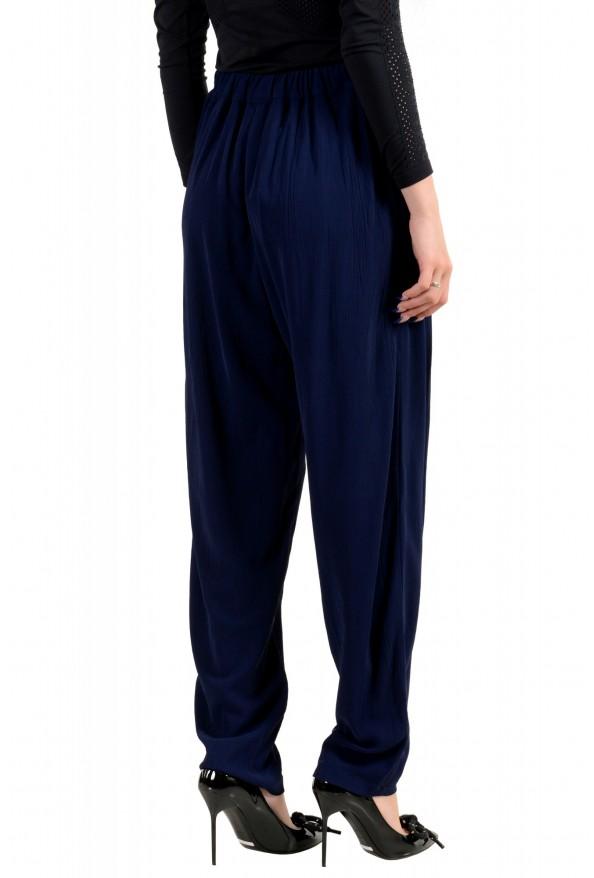 Just Cavalli Women's Dark Blue Elastic Waist Casual Pants: Picture 3