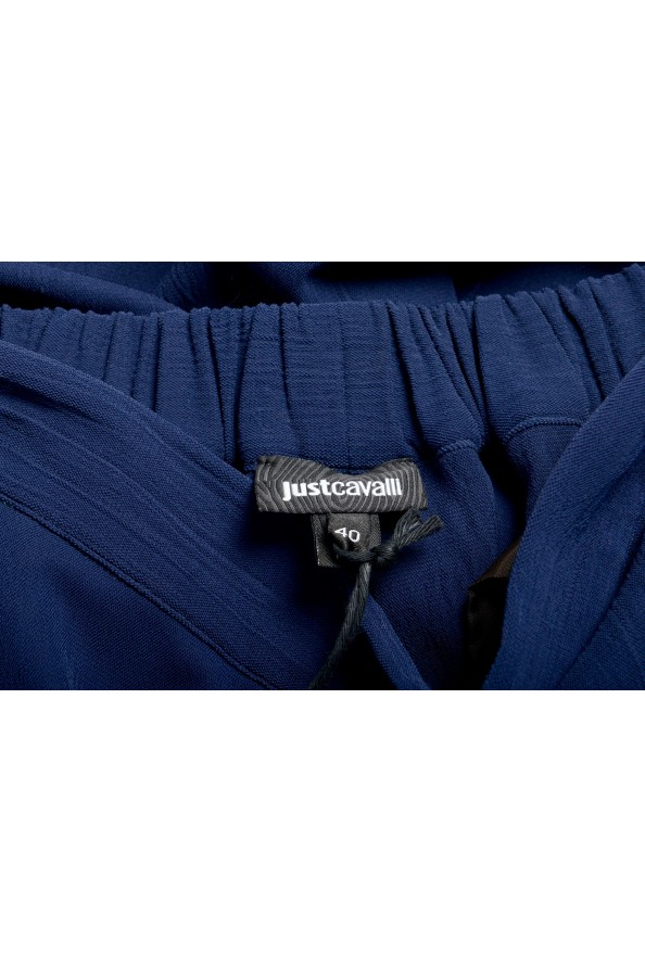 Just Cavalli Women's Dark Blue Elastic Waist Casual Pants: Picture 4