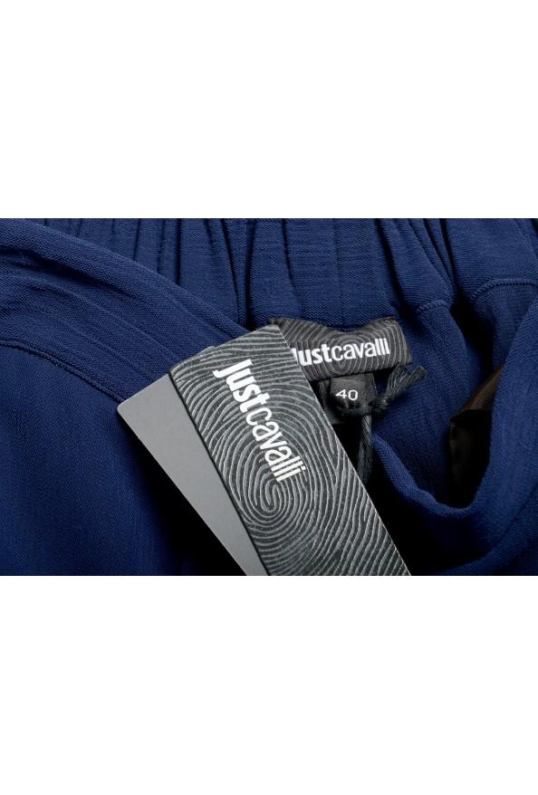 Just Cavalli Women's Dark Blue Elastic Waist Casual Pants: Picture 5