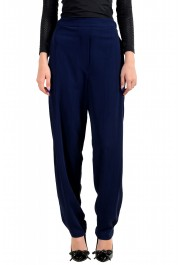 Just Cavalli Women's Dark Blue Elastic Waist Casual Pants