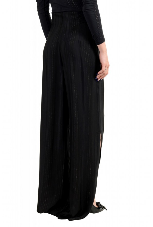 Just Cavalli Women's Black Striped Belted High Waisted Pants : Picture 3