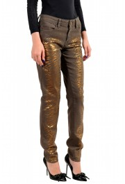 Just Cavalli Women's Gray Painted Skinny Leg Jeans : Picture 2