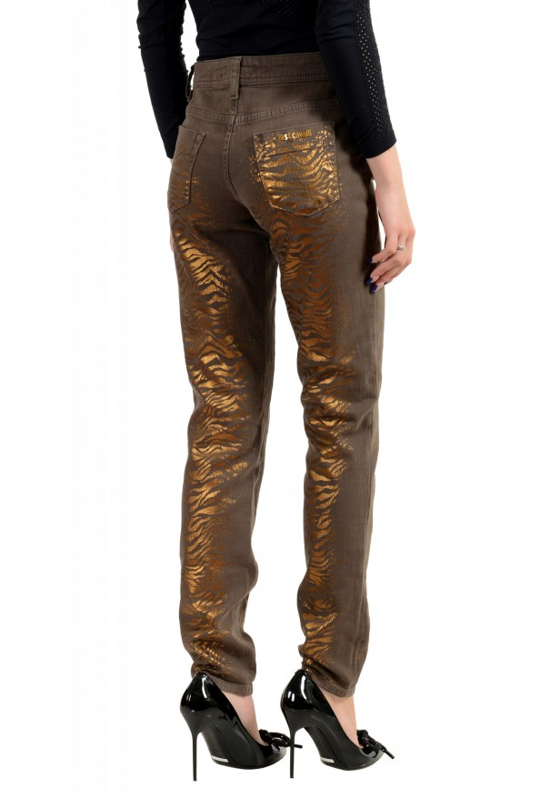 Just Cavalli Women's Gray Painted Skinny Leg Jeans : Picture 3