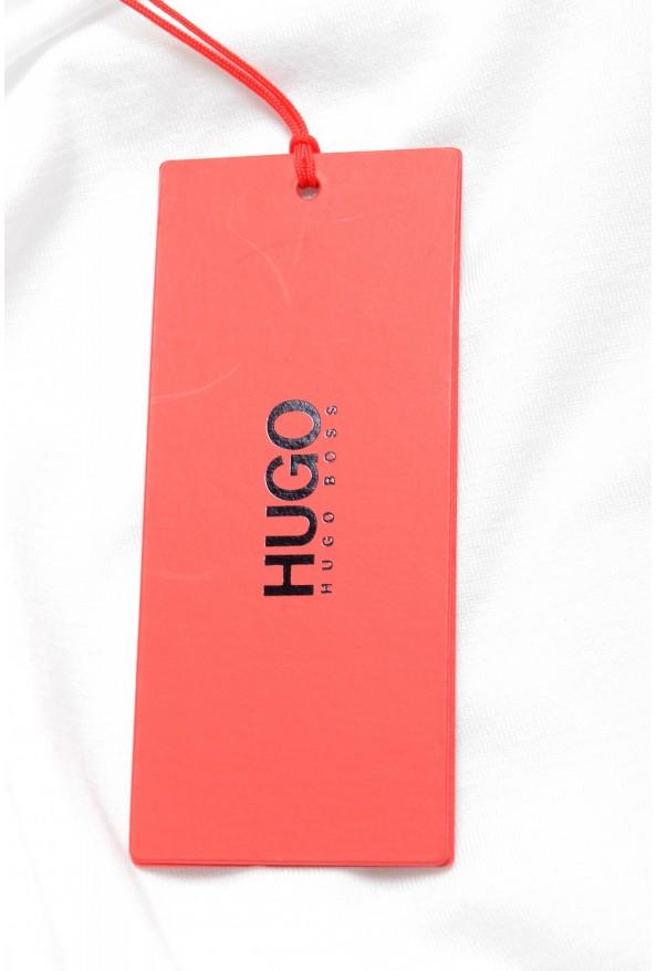 "Hugo Boss Men's ""Denots202"" White Crewneck Short Sleeve T-Shirt: Picture 6"