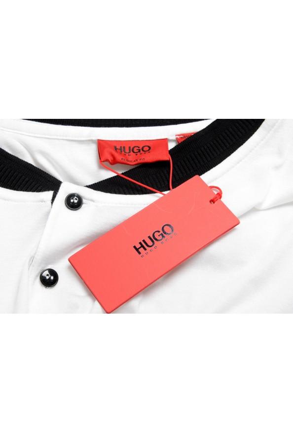 "Hugo Boss Men's ""Denots202"" White Crewneck Short Sleeve T-Shirt: Picture 7"