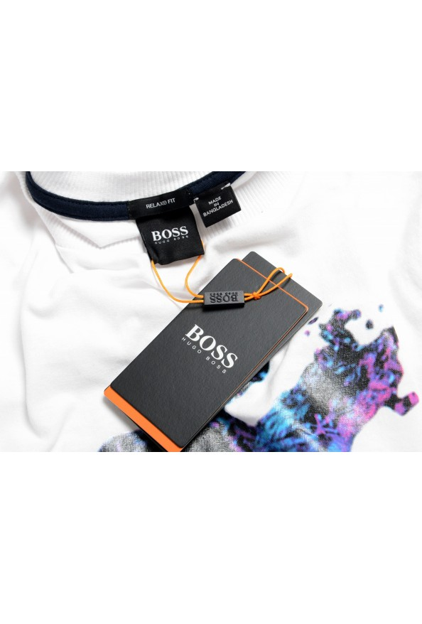 "Hugo Boss Men's ""Tempo2"" White Graphic Crewneck T-Shirt: Picture 7"