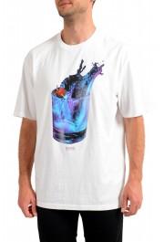"Hugo Boss Men's ""Tempo2"" White Graphic Crewneck T-Shirt"