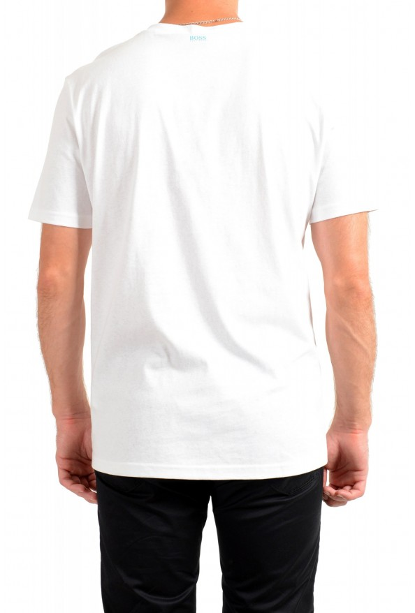 "Hugo Boss Men's ""Troaar3"" White Graphic Crewneck T-Shirt: Picture 3"