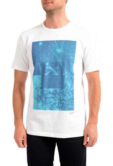 "Hugo Boss Men's ""Troaar3"" White Graphic Crewneck T-Shirt"