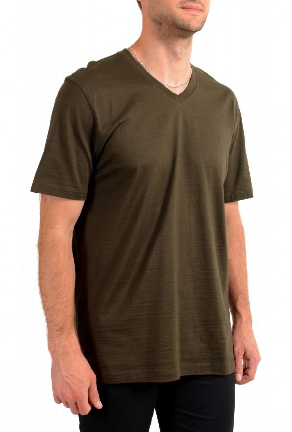"""Hugo Boss Men's """"Tilson100"""" Green V-Neck Short Sleeve T-Shirt: Picture 2"""