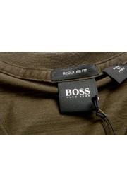 """Hugo Boss Men's """"Tilson100"""" Green V-Neck Short Sleeve T-Shirt: Picture 5"""