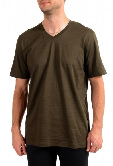 """Hugo Boss Men's """"Tilson100"""" Green V-Neck Short Sleeve T-Shirt"""