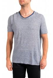 "Hugo Boss Men's ""T-Tesar20"" Regular Fit Blue 100% Linen Crewneck T-Shirt"