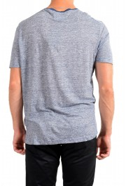 "Hugo Boss Men's ""T-Tesar20"" Regular Fit Blue 100% Linen Crewneck T-Shirt: Picture 3"
