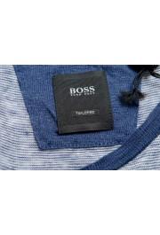 "Hugo Boss Men's ""T-Tesar20"" Regular Fit Blue 100% Linen Crewneck T-Shirt: Picture 5"