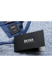 "Hugo Boss Men's ""T-Tesar20"" Regular Fit Blue 100% Linen Crewneck T-Shirt: Picture 7"
