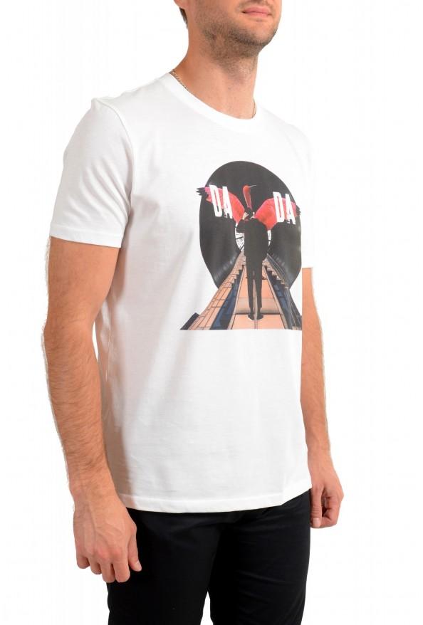 "Hugo Boss Men's ""Dadaist"" White Graphic Print Crewneck T-Shirt: Picture 2"