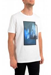 "Hugo Boss Men's ""Dinge"" White Graphic Print Crewneck T-Shirt: Picture 2"