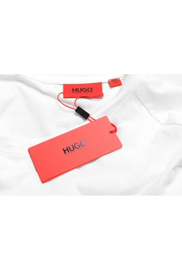 "Hugo Boss Men's ""Dinge"" White Graphic Print Crewneck T-Shirt: Picture 7"