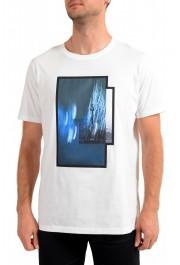 "Hugo Boss Men's ""Dinge"" White Graphic Print Crewneck T-Shirt"