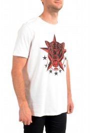 "Hugo Boss Men's ""Diete"" White Graphic Print Crewneck T-Shirt: Picture 2"