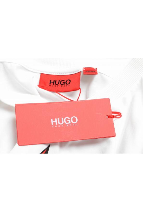 "Hugo Boss Men's ""Diete"" White Graphic Print Crewneck T-Shirt: Picture 7"