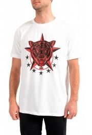 "Hugo Boss Men's ""Diete"" White Graphic Print Crewneck T-Shirt"