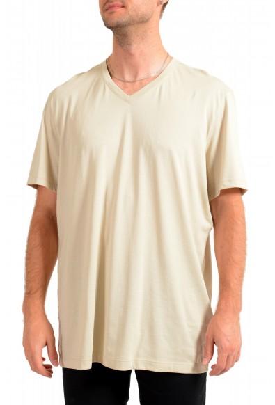"""Hugo Boss Men's """"Tilson55"""" Nude Beige V-Neck Short Sleeve T-Shirt"""