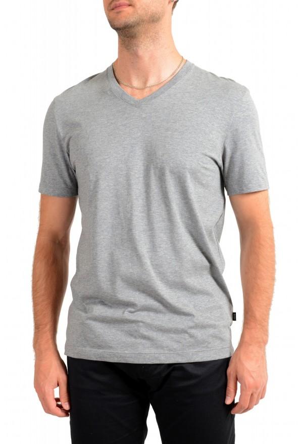 """Hugo Boss Men's """"Tilson 55"""" Regular Fit Gray Basic V-Neck T-Shirt"""