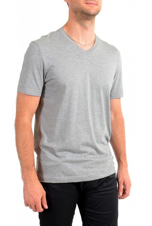 """Hugo Boss Men's """"Tilson 55"""" Regular Fit Gray Basic V-Neck T-Shirt: Picture 2"""