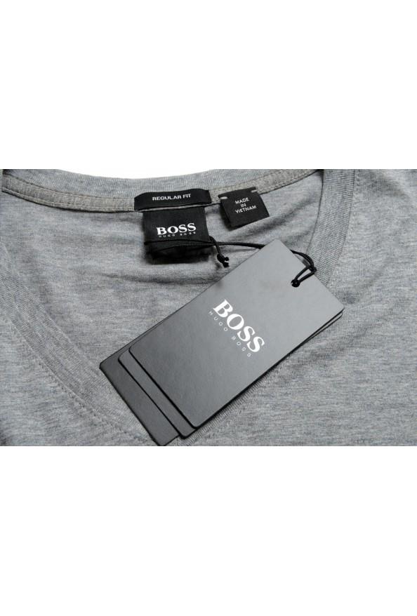 """Hugo Boss Men's """"Tilson 55"""" Regular Fit Gray Basic V-Neck T-Shirt: Picture 7"""