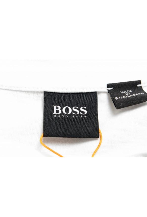 "Hugo Boss Men's ""TApple"" White Graphic Print Crewneck T-Shirt: Picture 4"