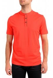 "Hugo Boss Men's ""Daspen_North"" Regular Fit Bright Red Crewneck Henley T-Shirt"