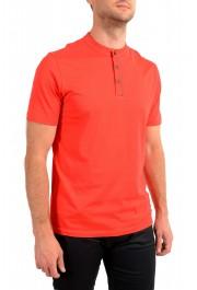 "Hugo Boss Men's ""Daspen_North"" Regular Fit Bright Red Crewneck Henley T-Shirt: Picture 2"
