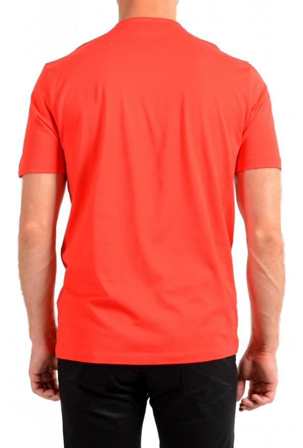 "Hugo Boss Men's ""Daspen_North"" Regular Fit Bright Red Crewneck Henley T-Shirt: Picture 3"
