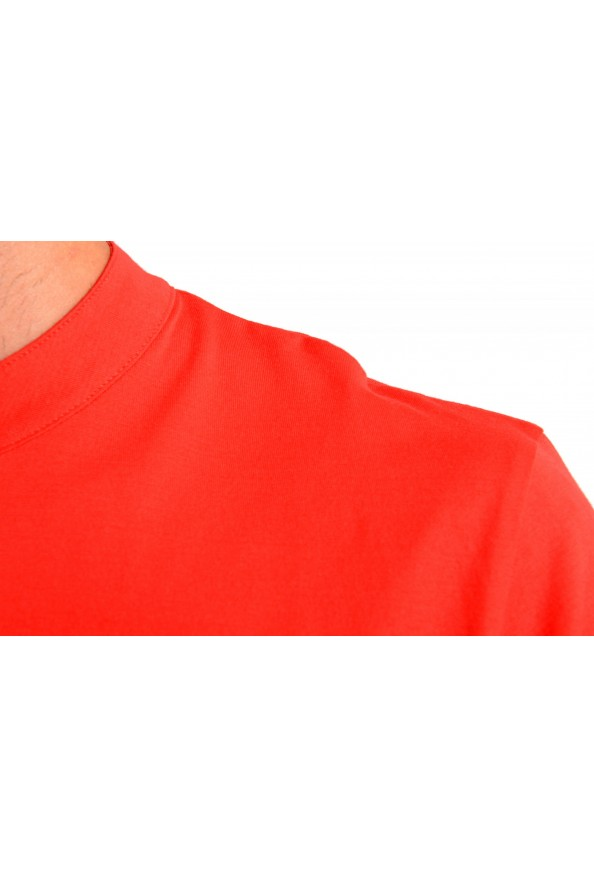 "Hugo Boss Men's ""Daspen_North"" Regular Fit Bright Red Crewneck Henley T-Shirt: Picture 4"
