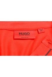 "Hugo Boss Men's ""Daspen_North"" Regular Fit Bright Red Crewneck Henley T-Shirt: Picture 5"