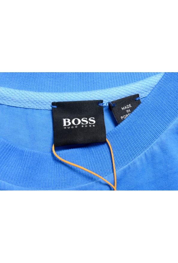 "Hugo Boss Men's ""Toxx"" Blue Basic Crewneck T-Shirt: Picture 5"